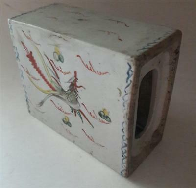Antique Chinese Porcelain Pillow Late Qing Dynasty or Republic With Dragon