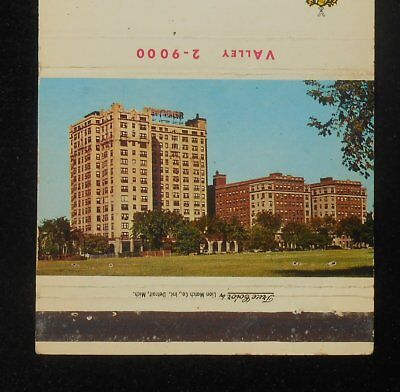 1950s The Whittier Detroit's Distinguished Hotel Gold Cup Room Burns Detroit MI