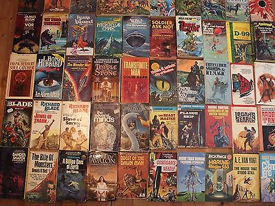 Science Fiction Fantasy Book Lot of 50