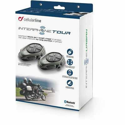 Interphone Tour Intercom Single Pack Bluetooth Motorcycle Hands Free Headset