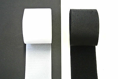Sew On White Black Hook And Loop Tape Crafts Bags DIY x1 x2 x5 x10 x25 Metres