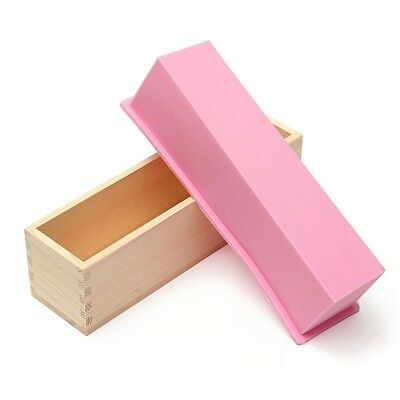 AU Wood Loaf Soap Mould with Silicone Mold Cake Making Wooden Box Biscuit DIY