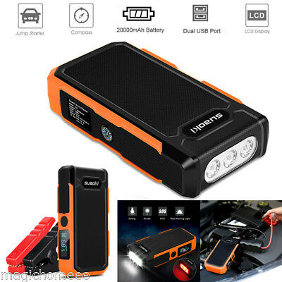 Suaoki 800A 20000mAh Auto voiture Jump Starter Booster Urgence Chargeur Batterie