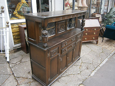 Gothic Style Court Cupboard Sideboard Olde English Charm ?? In Yeovil