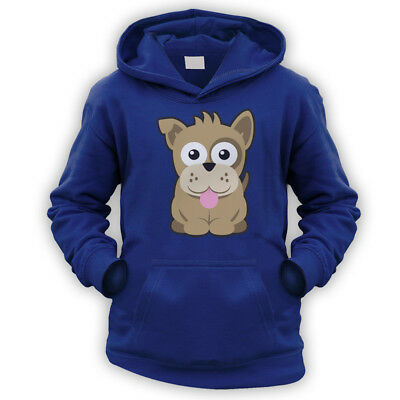 Scrappy Pup Kids Hoodie -x9 Colours- Gift Present Cute Colourful Cartoon Pet