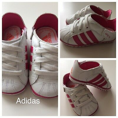Baby Girls Shoes/ Cute Girls adidas Trainers 18 Months UK Size 2K