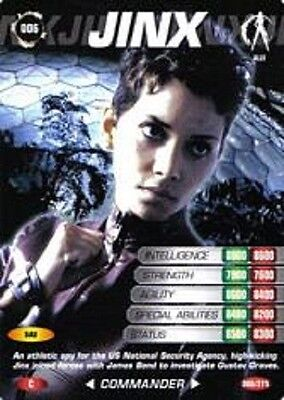 James Bond 007 Spy Cards JINX Trading Card Number 6  COMMON  Halle Berry