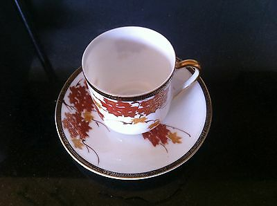 Elegant Japanese small cup with saucer