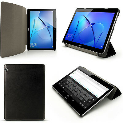 """PU Leather Smart Cover for Huawei MediaPad T3 10"""" Stand Folio Case + Screen Prot"""