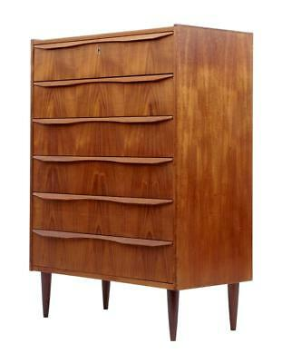 DANISH 1960's TEAK TALL CHEST OF DRAWERS