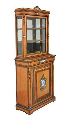 Quality 19Th Century Satinwood And Rosewood Display Cabinet
