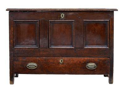 Late 17Th Century Small Oak Mule Chest
