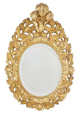 Small 19Th Century Carved Gilt Mirror
