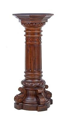 19Th Century Carved Walnut And Pine Pedestal