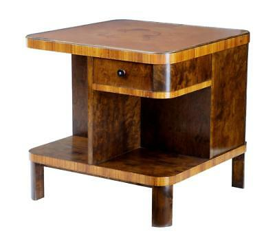 20Th Century Art Deco Birch Inlaid Occasional Table