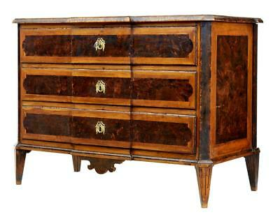 Quality 19Th Century Swedish Birch And Alder Root Commode Chest Of Drawers