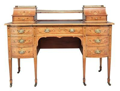 Early 20Th Century Edwardian Mahogany Inlaid Writing Desk