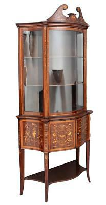 19Th Century Edwards & Roberts Mahogany Inlaid Display Cabinet