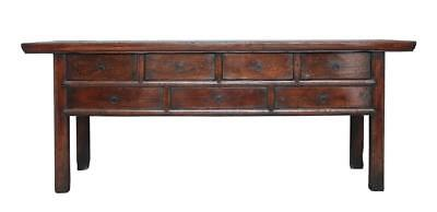 Large 19Th Century Rustic Chinese Elm Dresser Base