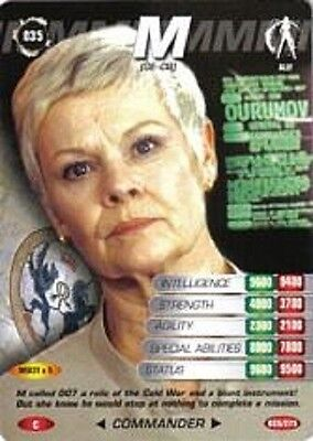 James Bond 007 Spy Cards M Trading Card Number 35 COMMON Card JUDI DENCH