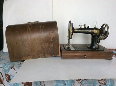 New Royal Sewing Machine With Bentwood Case Parts Repair
