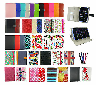 Universal Wallet Case Cover Stand fits ZTE Grand X View 2 Tablet PC 8 Inch