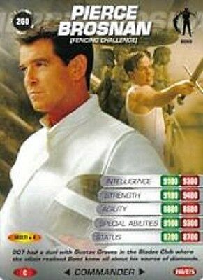 James Bond 007 Spy Card PIERCE BROSNAN Trading Card Number 260 COMMON CARD