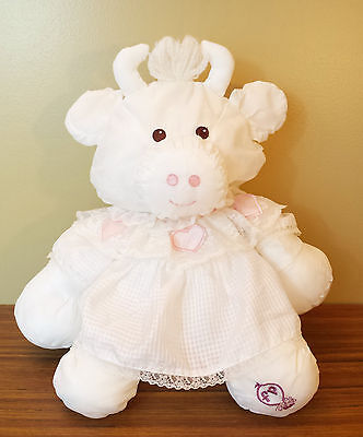 Fisher Price Puffalump White Cow Pink Heart Dress 1986