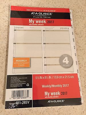 Day Runner At-A-Glance My Week 2017 Planner Refill