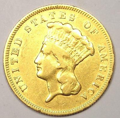 1878 Indian Three Dollar Gold Coin ($3) - XF Details (EF) - Rare Coin!