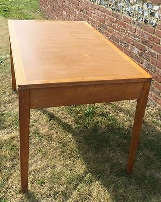 1961 War office MOD industrial oak ministry desk table
