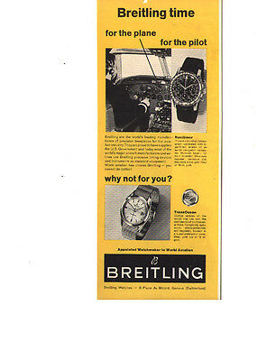 Breitling watches print ad 1962, Navitimer