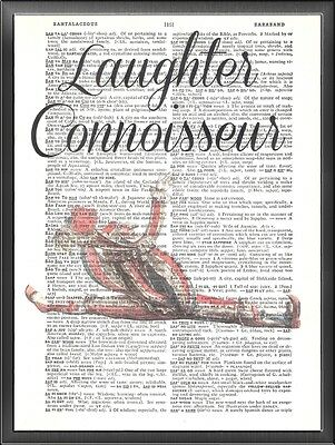 Limber Jester Altered Art Print Upcycled Vintage Dictionary Page