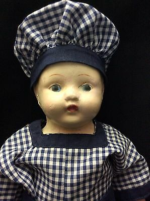 "Older Paper Mache 16"" Adorable Doll"