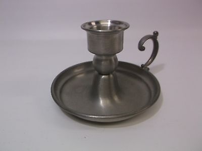 Vintage Leonard Pewter Candle Stick 4 inch Finger Ring Late Night Candle Holder