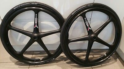 "New X Core Carbon Fibre Wheelchair Wheels 24"" Rgk, Kushall, Quickie"
