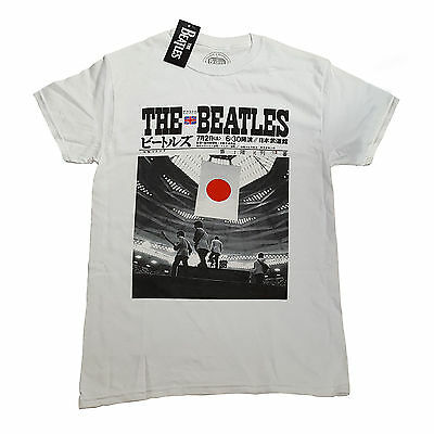 The Beatles Live At The Budokan OFFICIAL White T-Shirt Ringo McCartney Jude D3