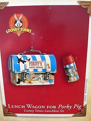 Looney Tunes Porky Pig Lunch box & thermos Christmas ornament