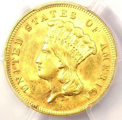 1878 Three Dollar Indian Gold Coin $3 - PCGS Uncirculated Details (UNC MS)!