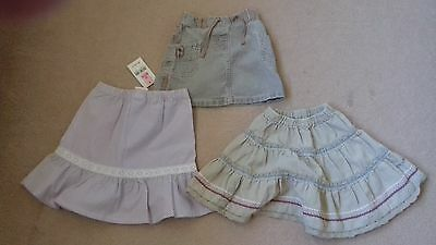 Girls Bundle of 3 Skirts Age 12/18 Months 1/5 2 Years One BNWT SEE DESCRIPTION