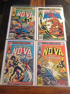 Marvel Early Nova Comic Book Lot Htf In Very High Grade-Gems