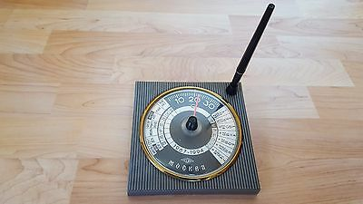 Moscow USSR Vintage Desk Thermometer + Fountain Pen holder