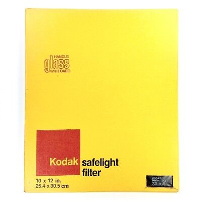 "Kodak No.0A Glass 10x12"" Safelight Filter (Greenish Yellow, 1521681) #40534"
