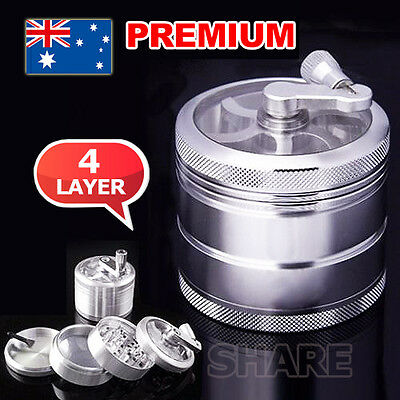 4-layer Aluminum Smoke Herb Grinder Hand Crank Herbal Tobacco Grinders Muller
