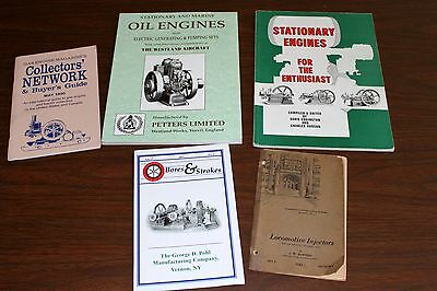 Five Paper Back Books on Hit and Miss Engines