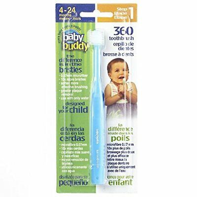 Baby Buddy 360 Toothbrush Step 1 Stage 5 for Babies/Toddlers Kids Love Them Blue