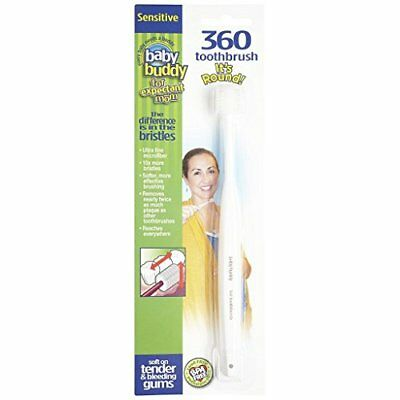 Baby Buddy 360 Toothbrush Sensitive for Expectant Moms White, New