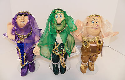Spumco THE THREE STOOGES TV Pals Plush Doll Set ~ HAREM COSTUMES ~ NWT!!!