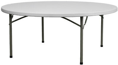 Lot of 6 6ft Round Banquet Catering Folding Tables