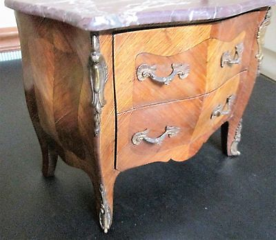 Antique 19th Century Miniature Salesman Sample Chest Commode w/ Marble Top